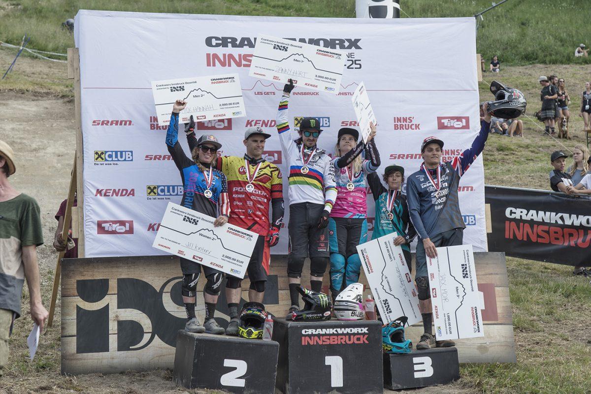 Siegerehrung Crankworx Innsbruck Downhill